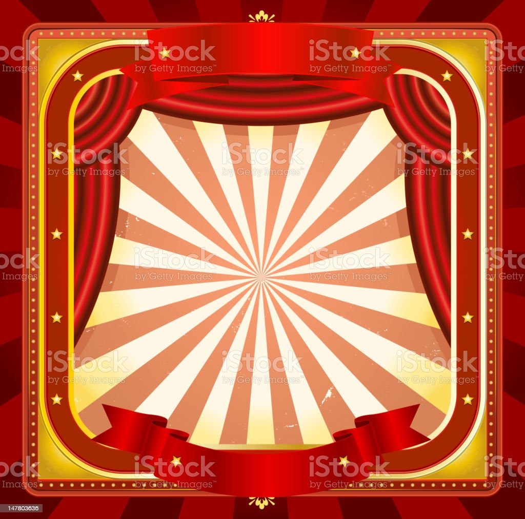 Circus Frame Poster Background royalty-free stock vector art