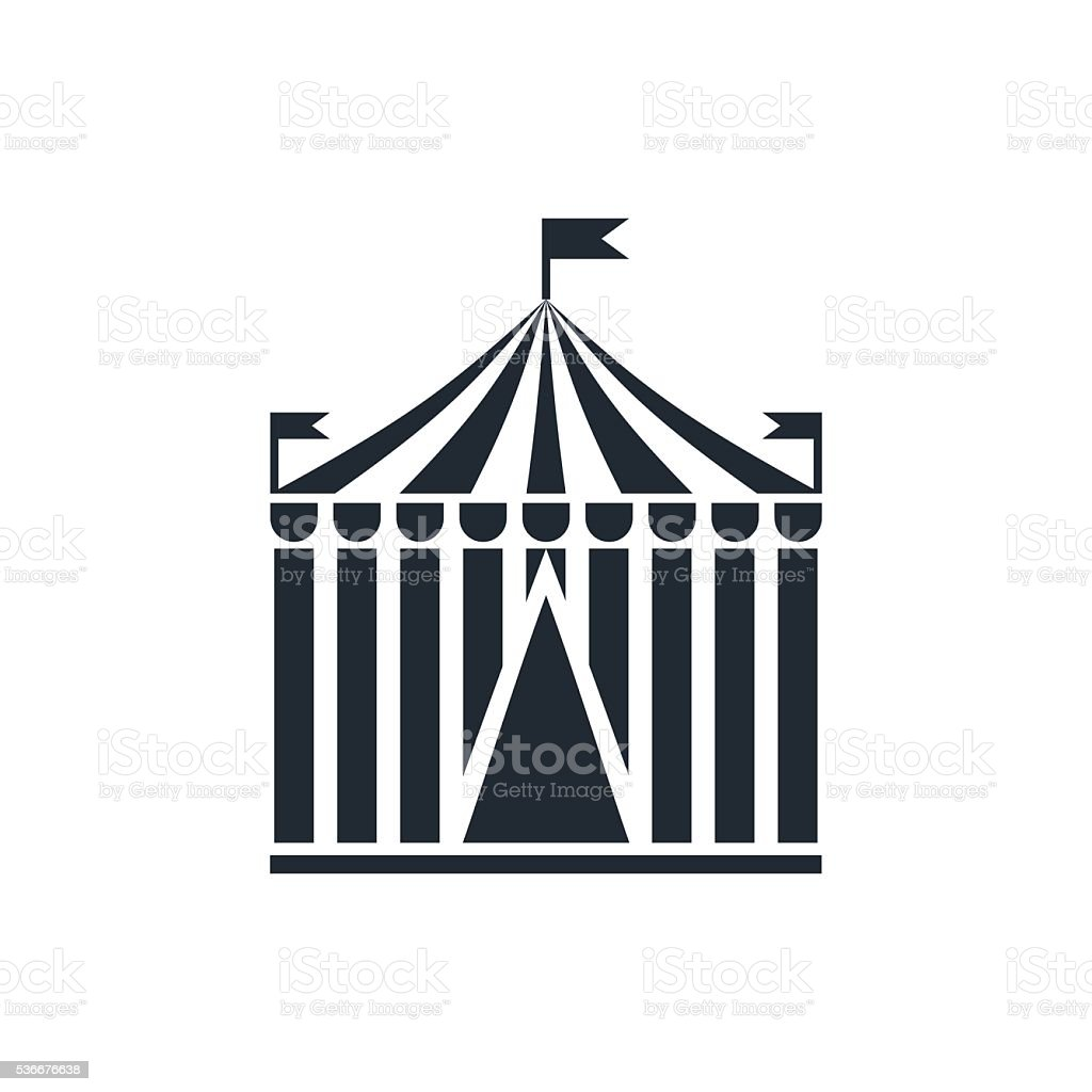 circus icon vector art illustration