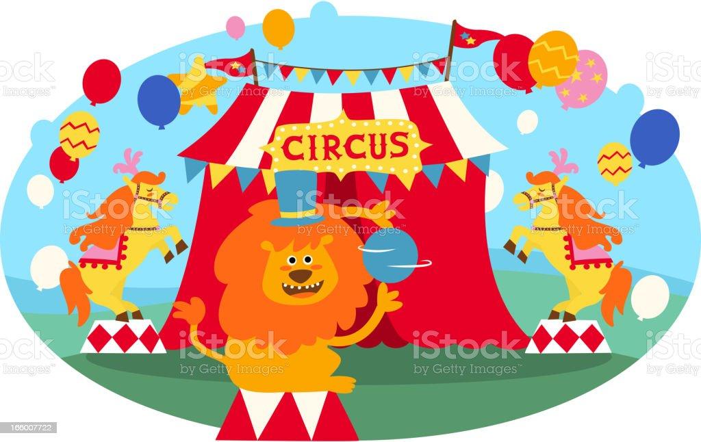 Circus Lion royalty-free stock vector art