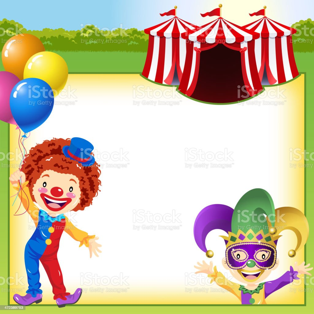 Circus Notice vector art illustration
