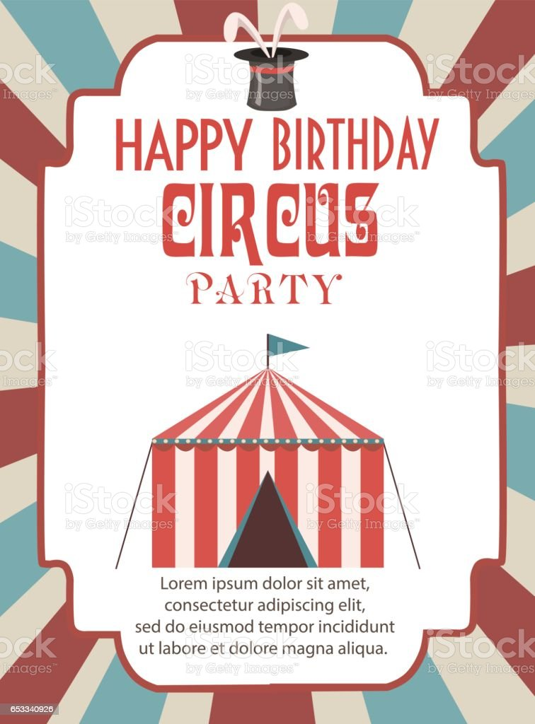 Birthday party invitation card template. Vector illustration