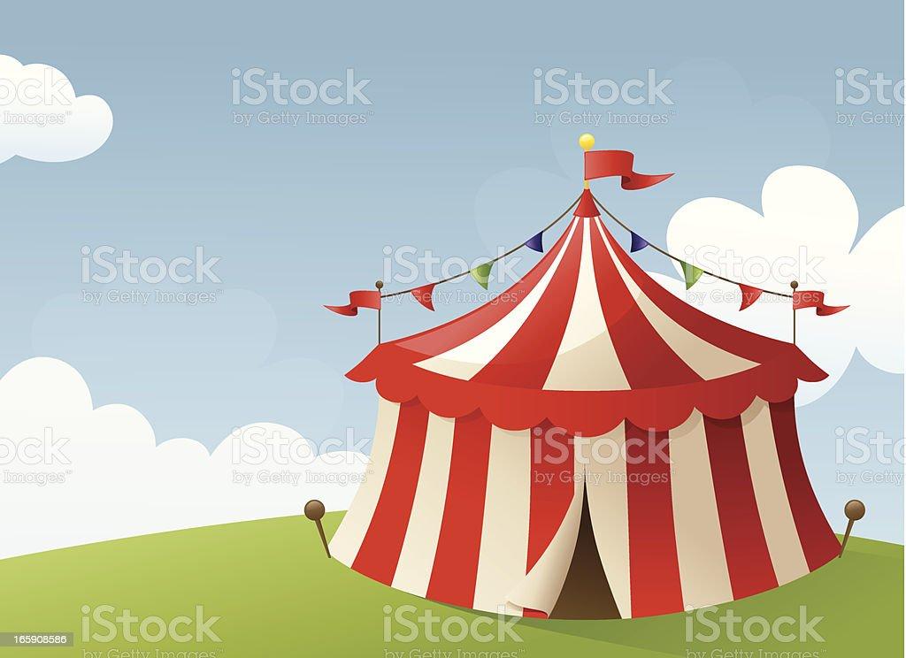 Circus Scene vector art illustration