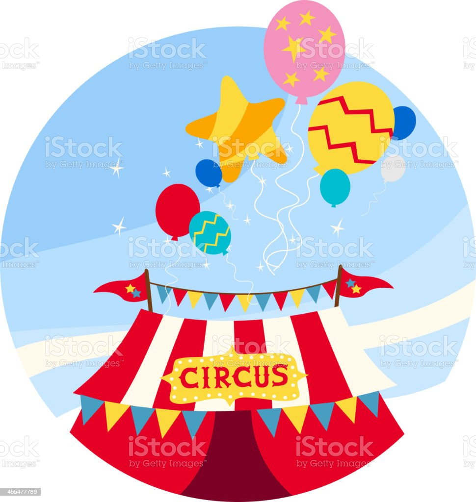 Circus sky balloon royalty-free stock vector art