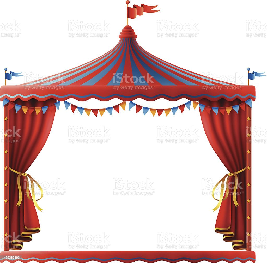 Circus Stage Sign vector art illustration