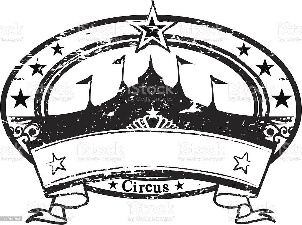 circus Stamp royalty-free stock vector art