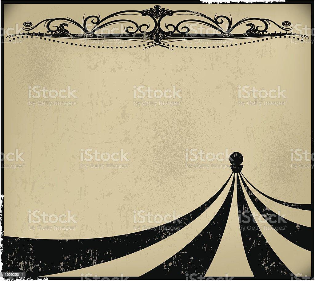 Circus Tent Background - Retro royalty-free stock vector art