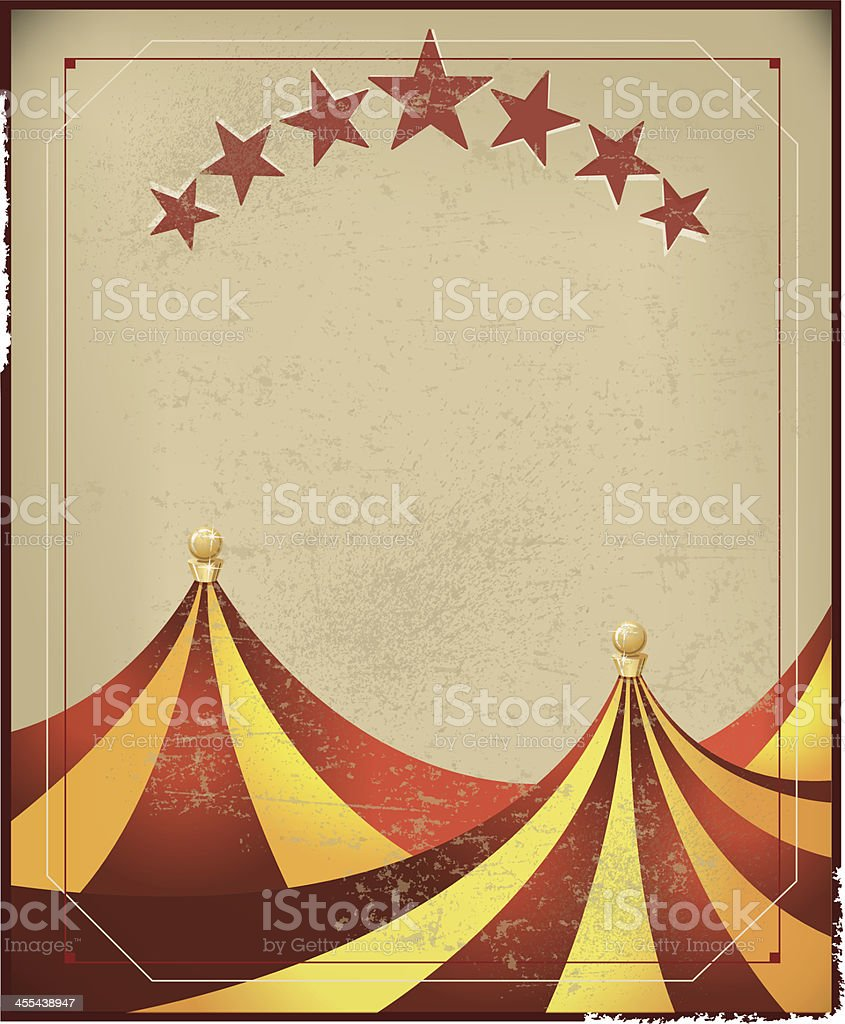Circus Tent Background - Retro vector art illustration