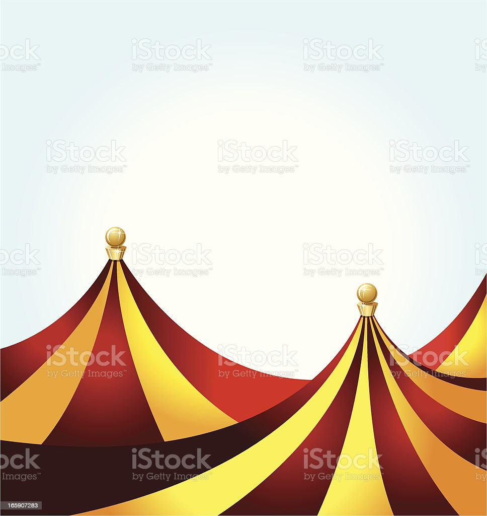 Circus Tent Background royalty-free stock vector art