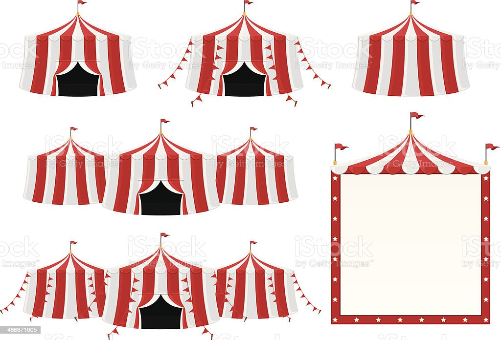 Circus Tent Collection vector art illustration