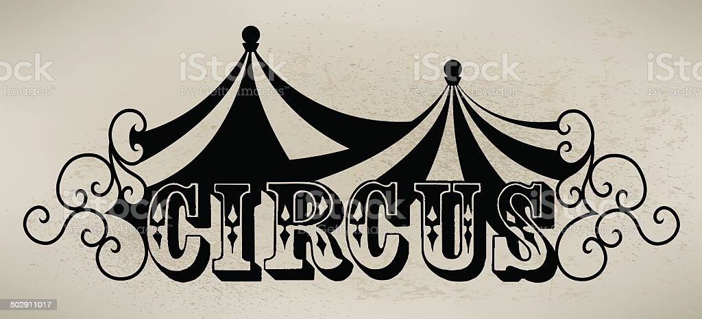 Circus Tent Graphic Background vector art illustration