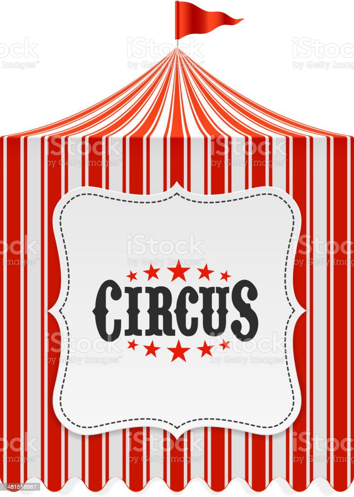 Circus tent, poster background vector art illustration