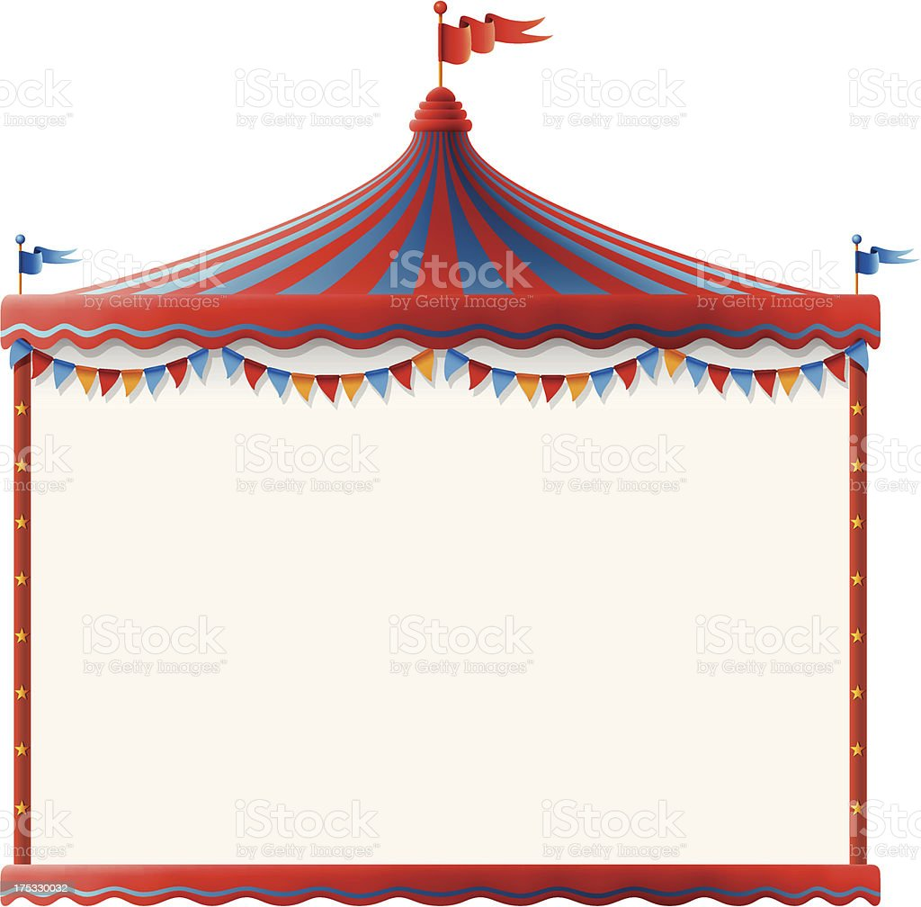 Circus Tent Sign royalty-free stock vector art