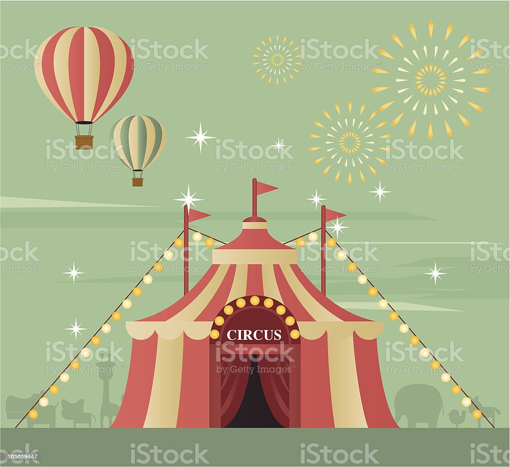 Circus Tent vector art illustration