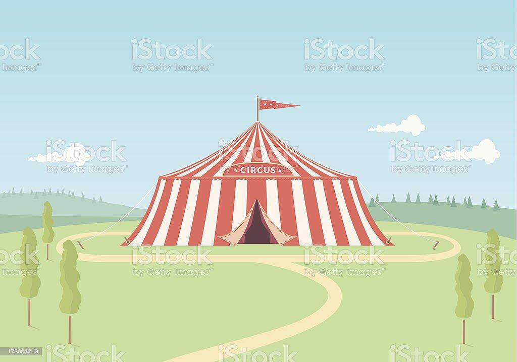 Circus Tent royalty-free stock vector art