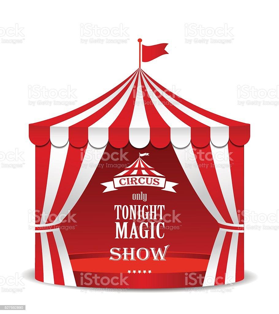 Circus tent. vector art illustration
