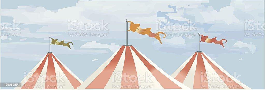 circus tents VECTOR royalty-free stock vector art