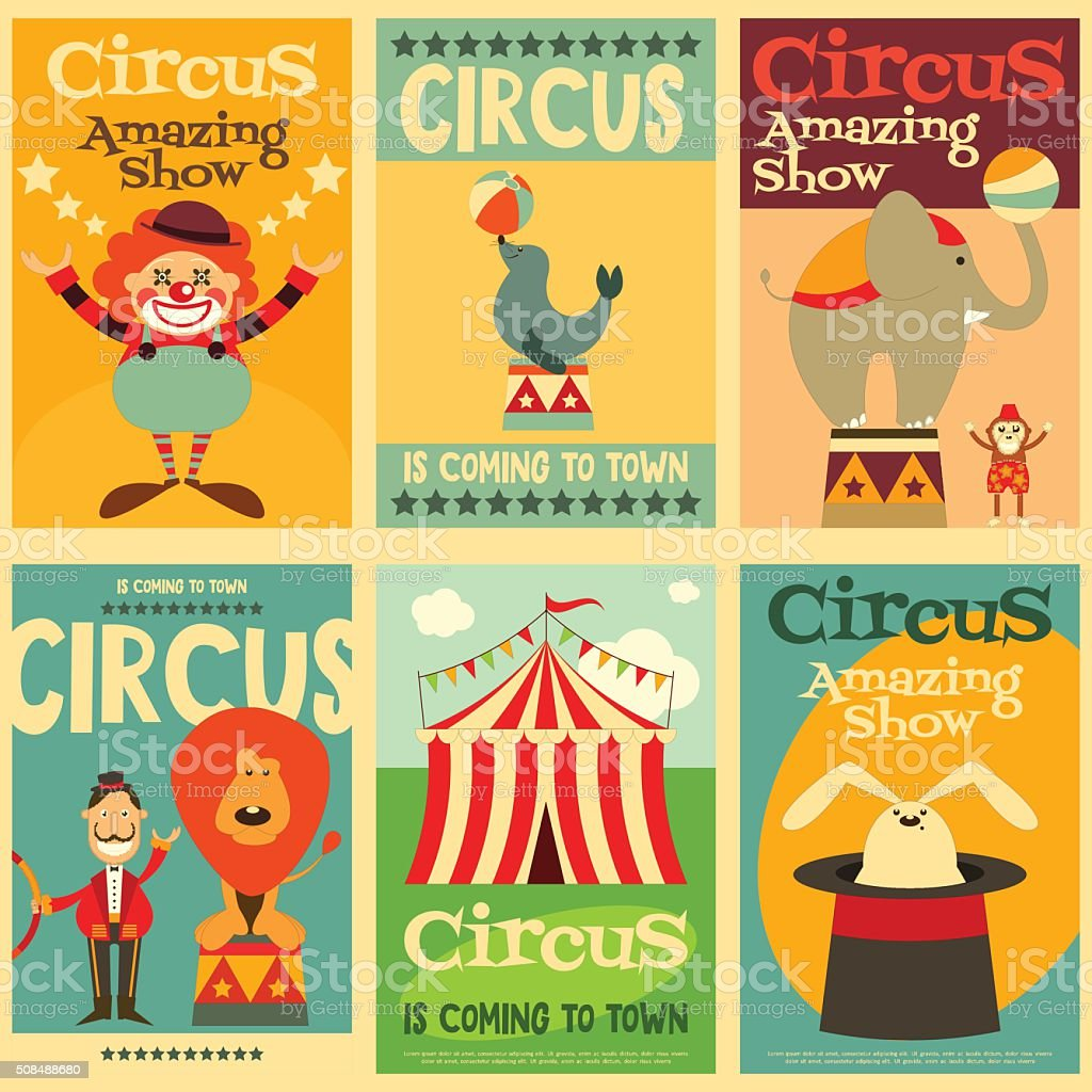 Circus vector art illustration