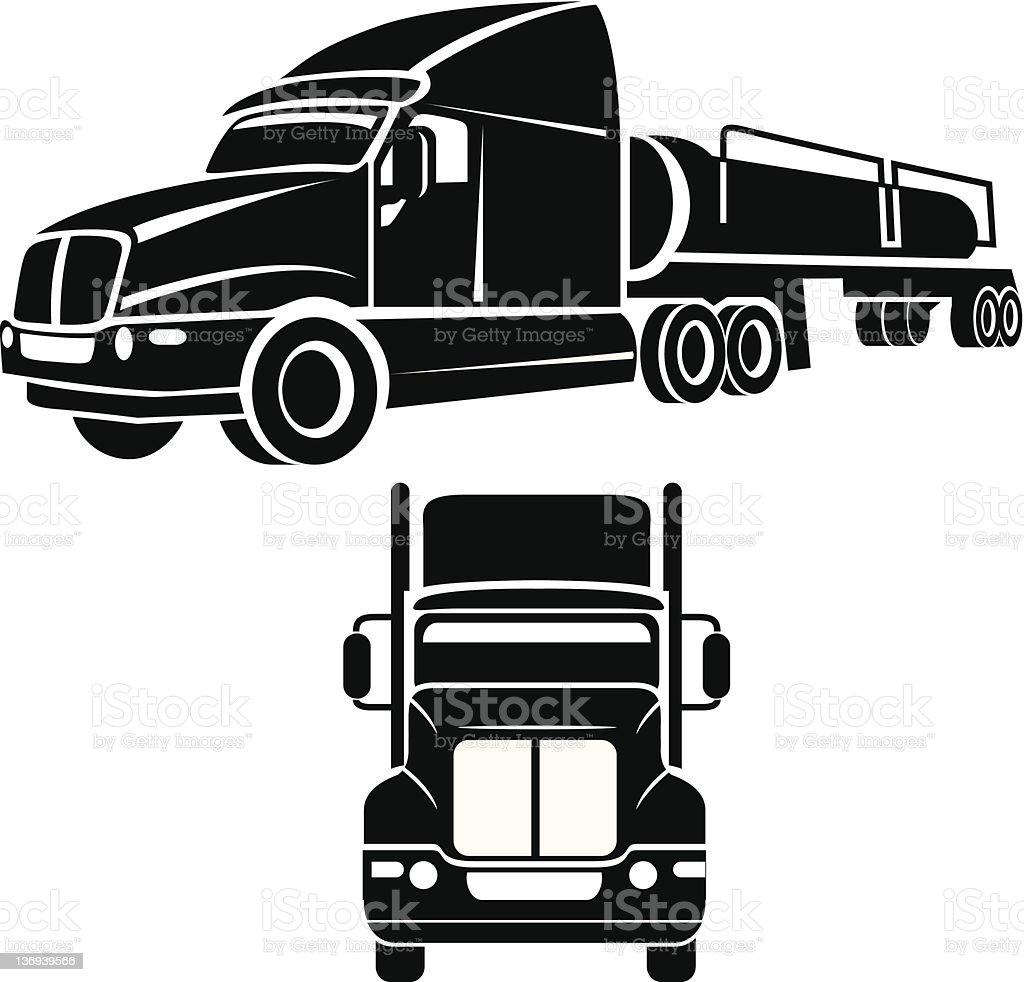 Cistern truck vector vector art illustration