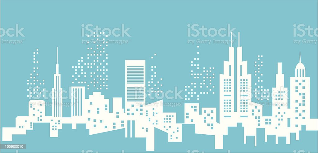 Cities silhouette royalty-free stock vector art