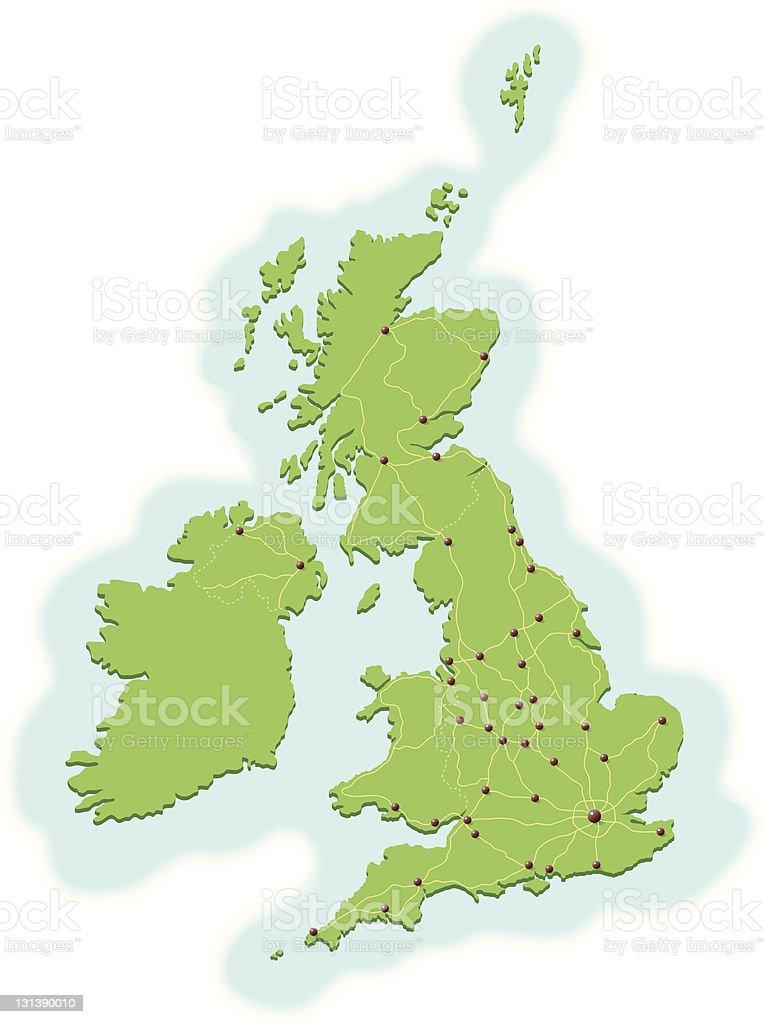 UK cities vector art illustration