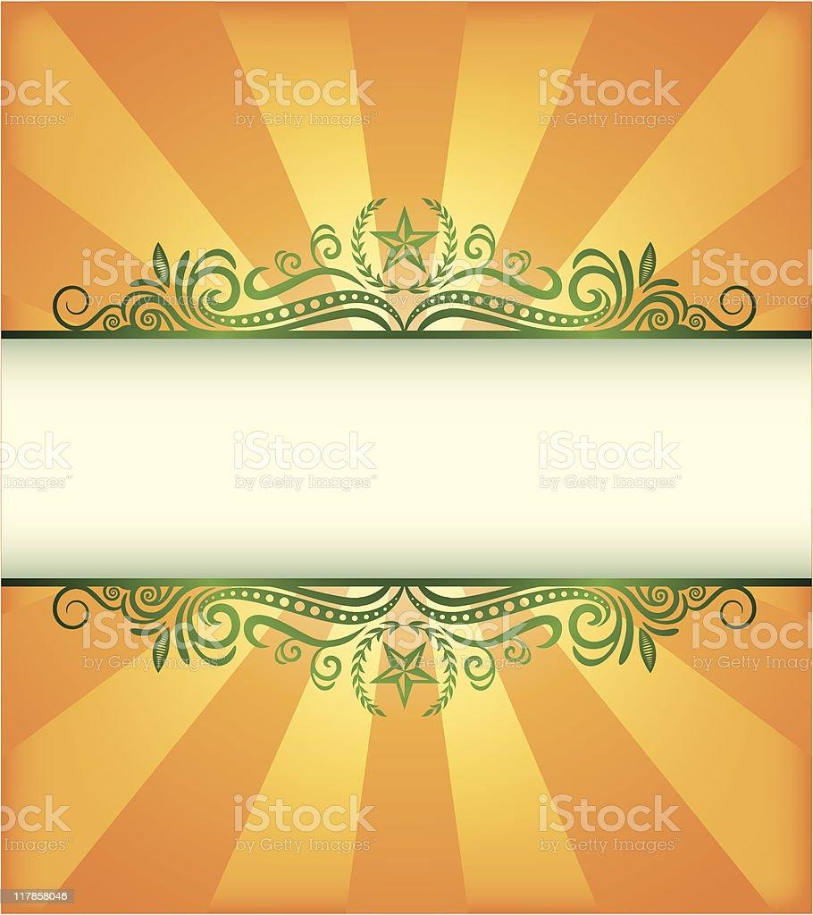 CitriStar Frame royalty-free stock vector art