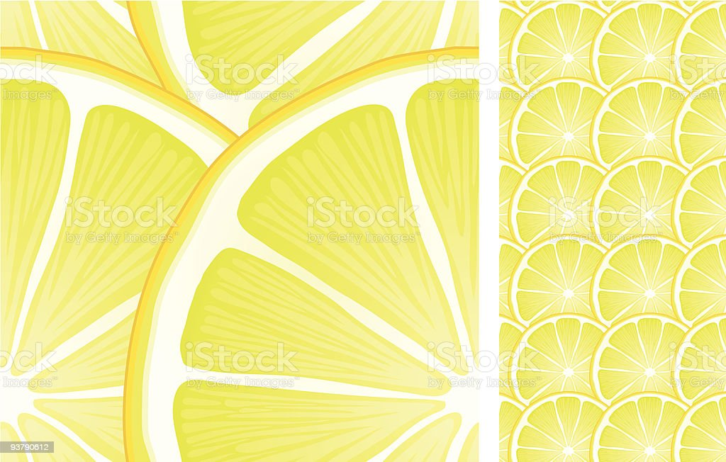 Citron seamless pattern royalty-free stock vector art