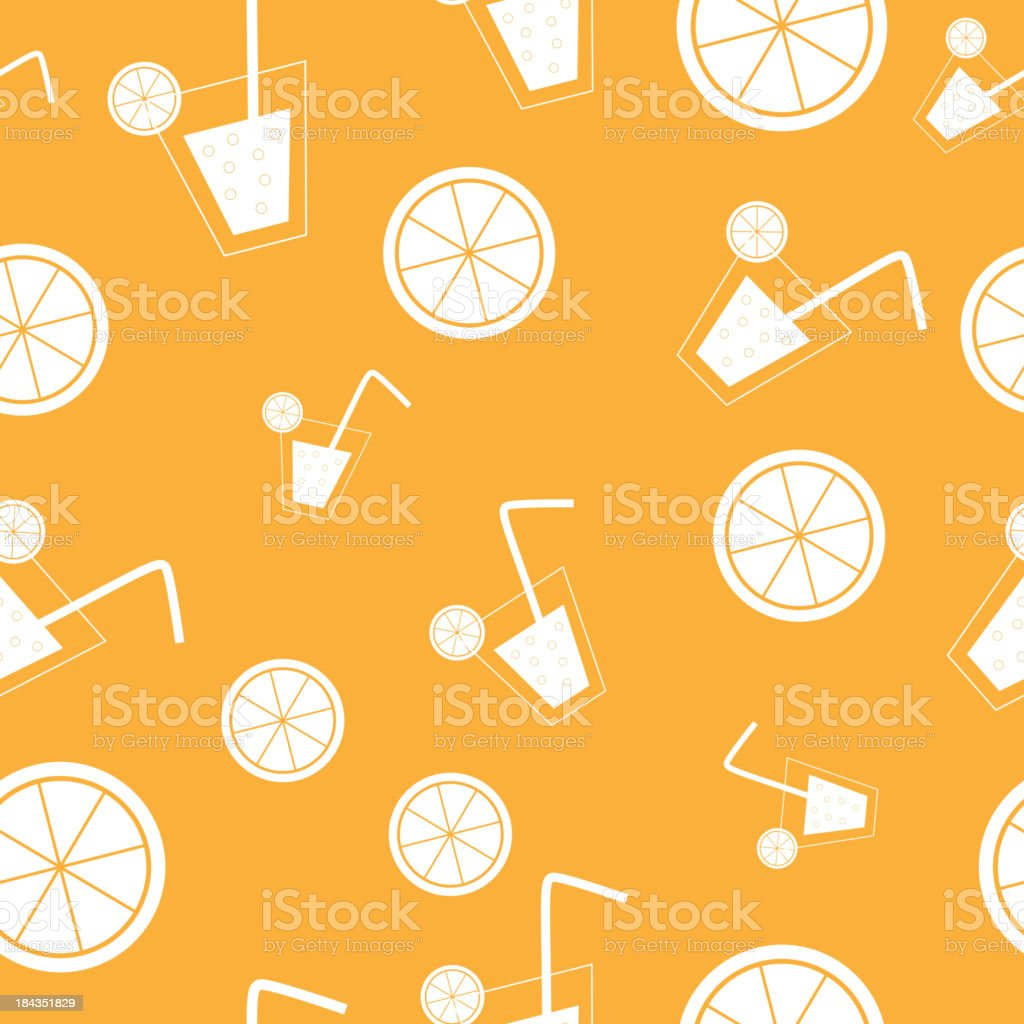 citrus Cocktail seamless pattern background vector illustration royalty-free stock vector art
