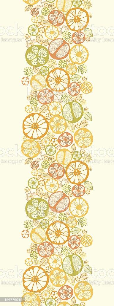 Citrus Fruit Seamless Vertical Pattern Border royalty-free stock vector art