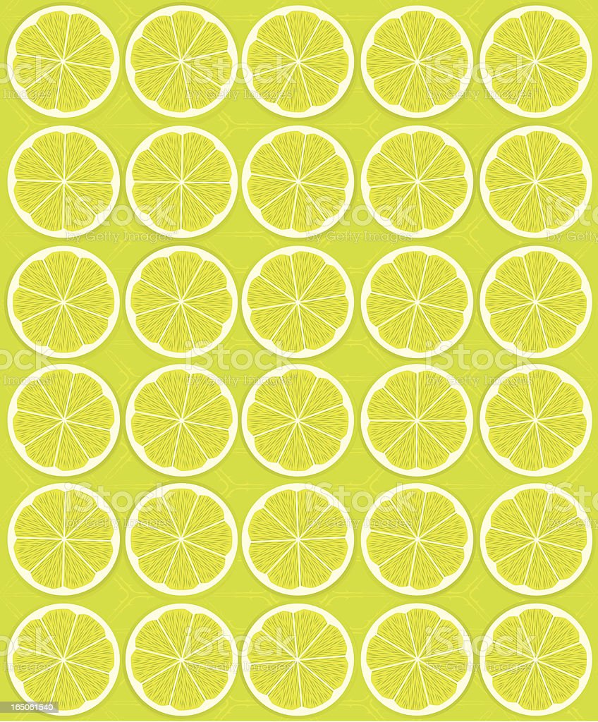 Citrus - Lime Slices (Seamless) royalty-free stock vector art