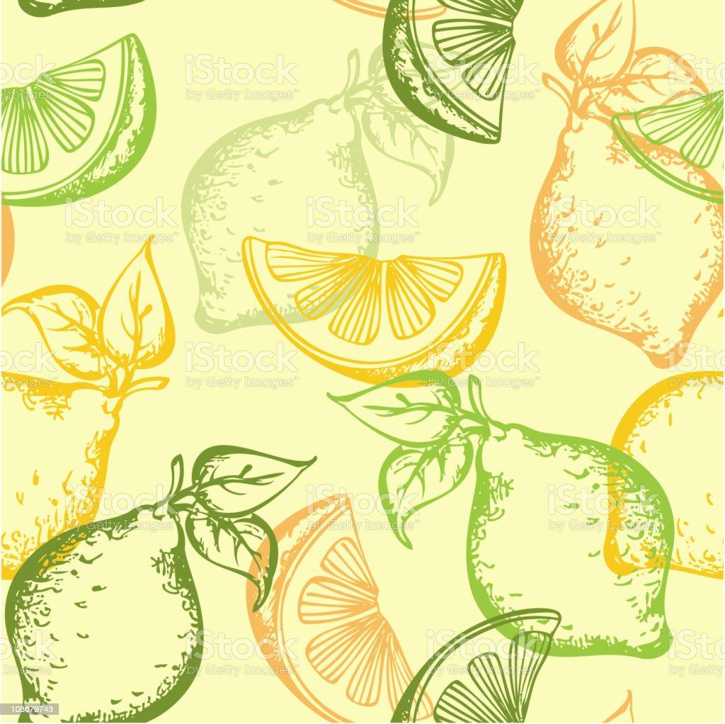 citrus seamless pattern royalty-free stock vector art