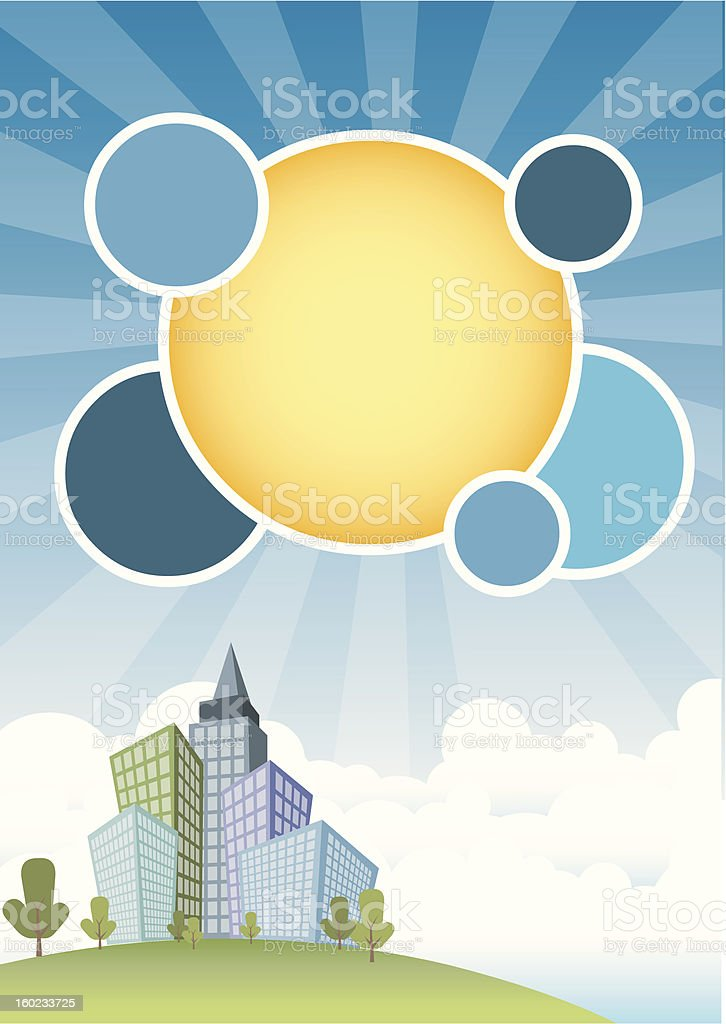 city and blue sky royalty-free stock vector art