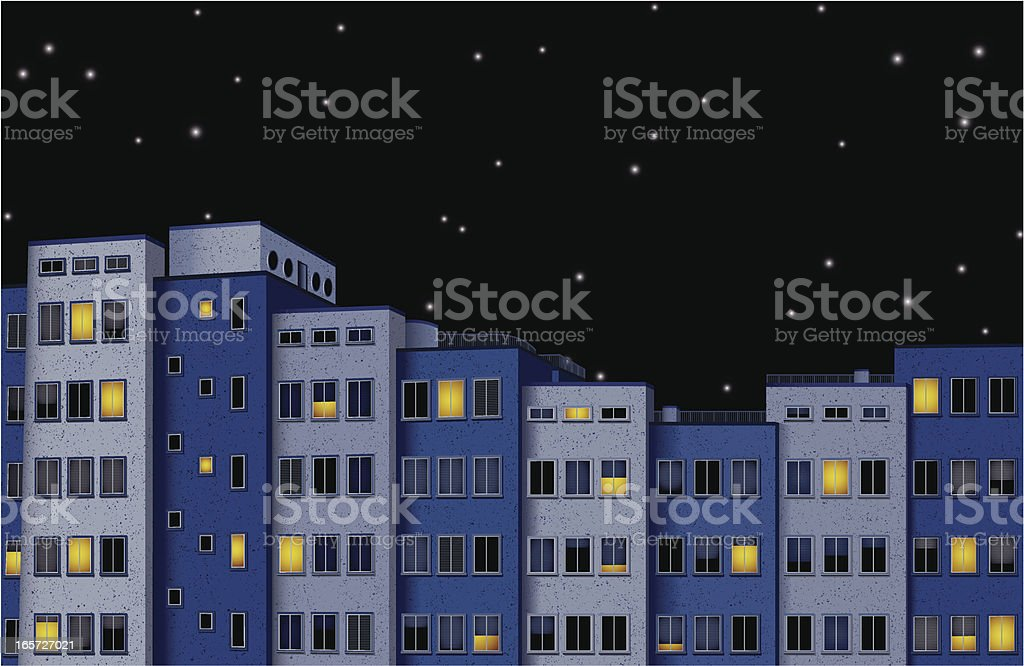 city at night royalty-free stock vector art