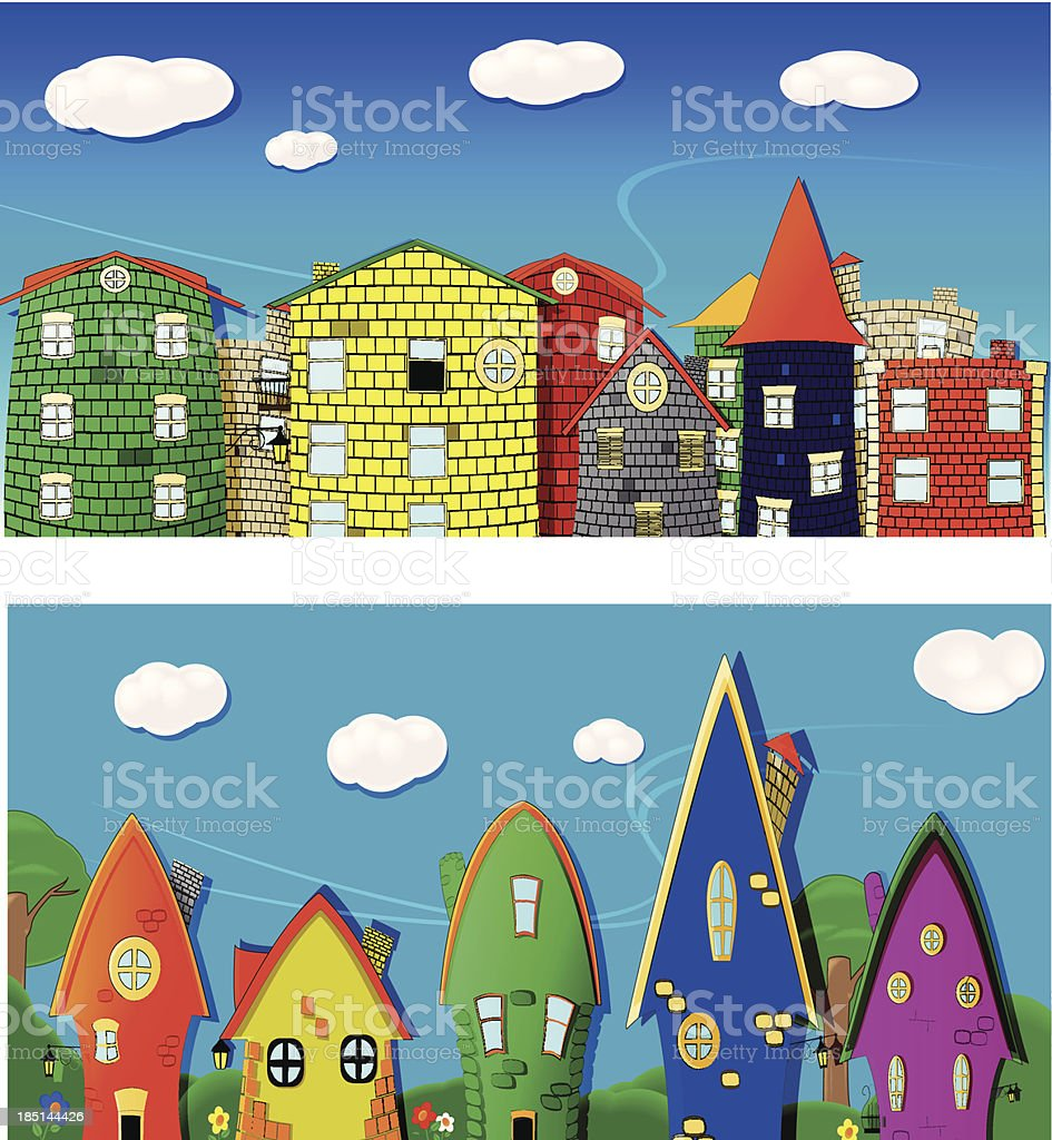 City back royalty-free stock vector art