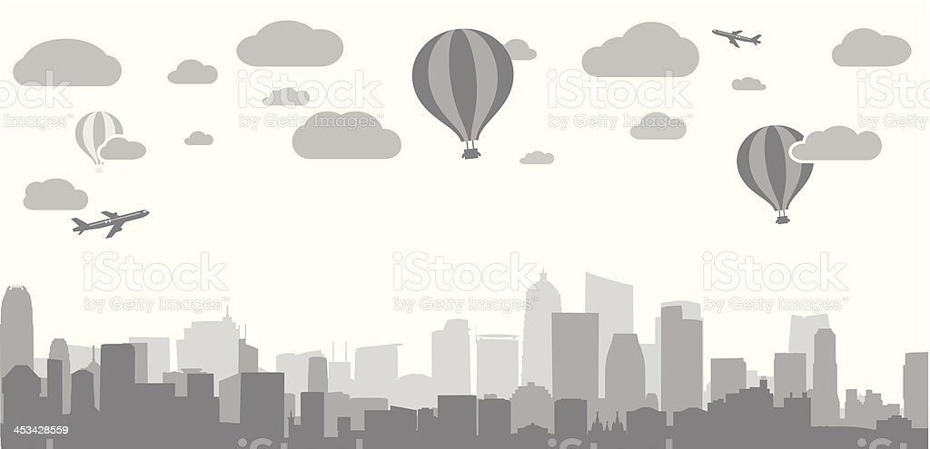 city background for advertising real estate services royalty-free stock vector art