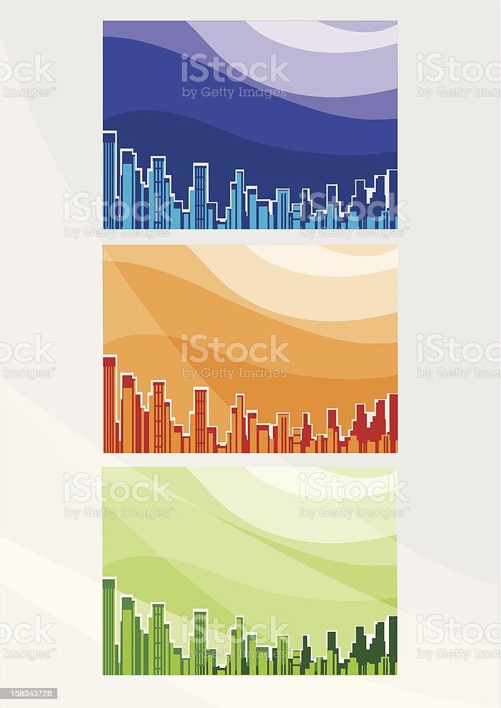 City background royalty-free stock vector art