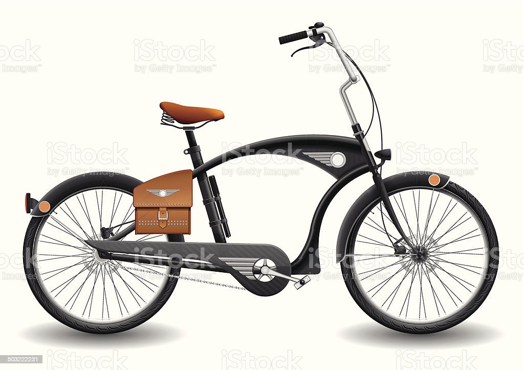 City Bicycle vector art illustration