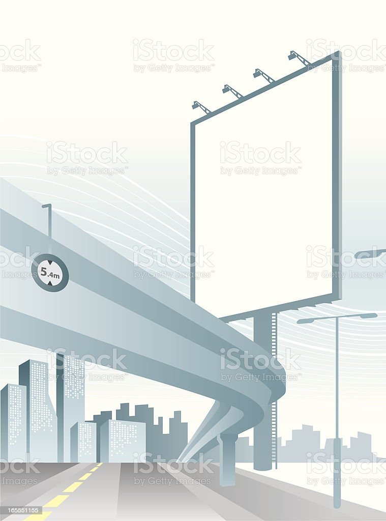 City Billboard vector art illustration