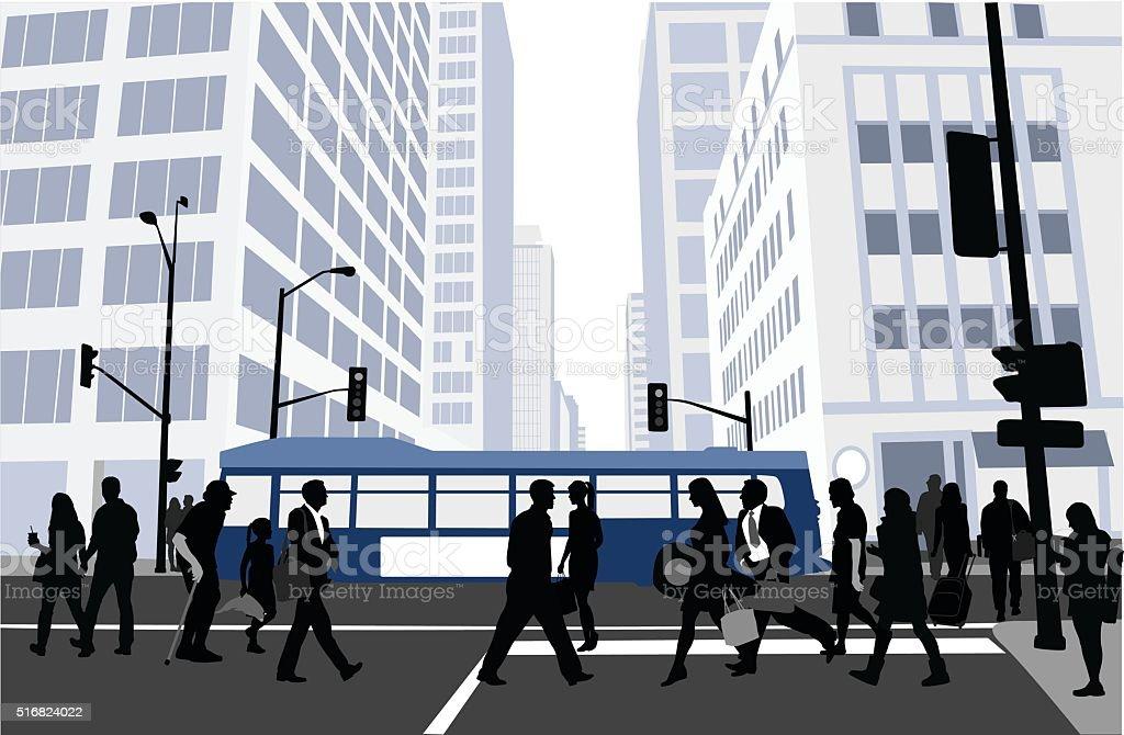 City Block Blues vector art illustration