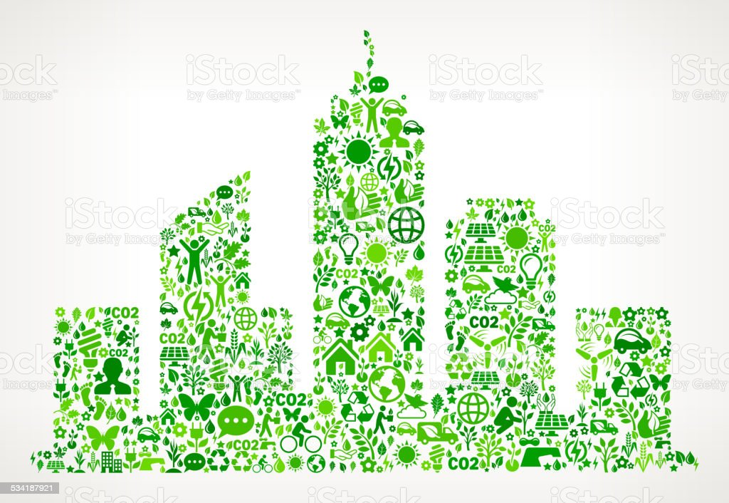 City Buildings Environmental Conservation and Nature interface icon Pattern vector art illustration
