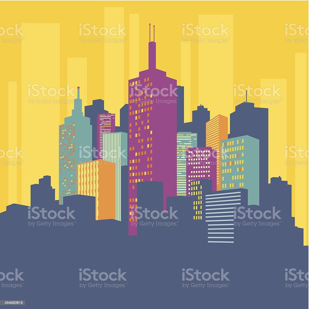City Buildings royalty-free stock vector art