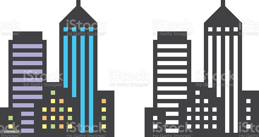 city clip art  vector images   illustrations istock city buildings clipart black and white Cartoon City Buildings