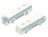 City Bus Isometric Illustration