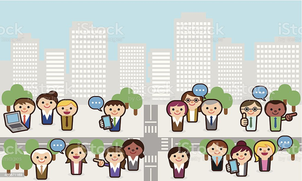 City business people royalty-free stock vector art
