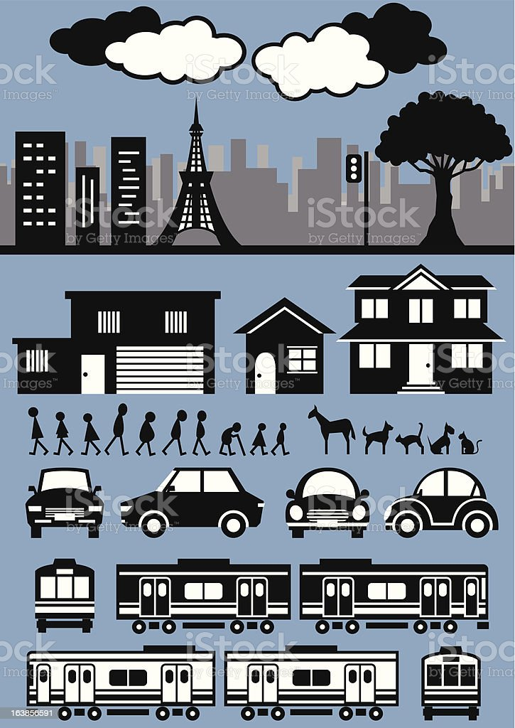 city collection royalty-free stock vector art