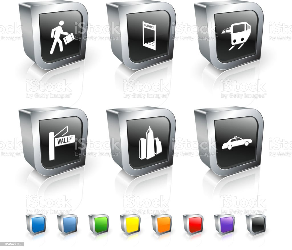 city commute royalty free vector icon set royalty-free stock vector art
