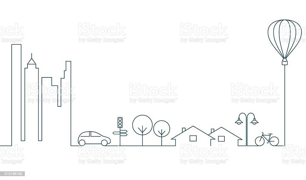City concept vector art illustration