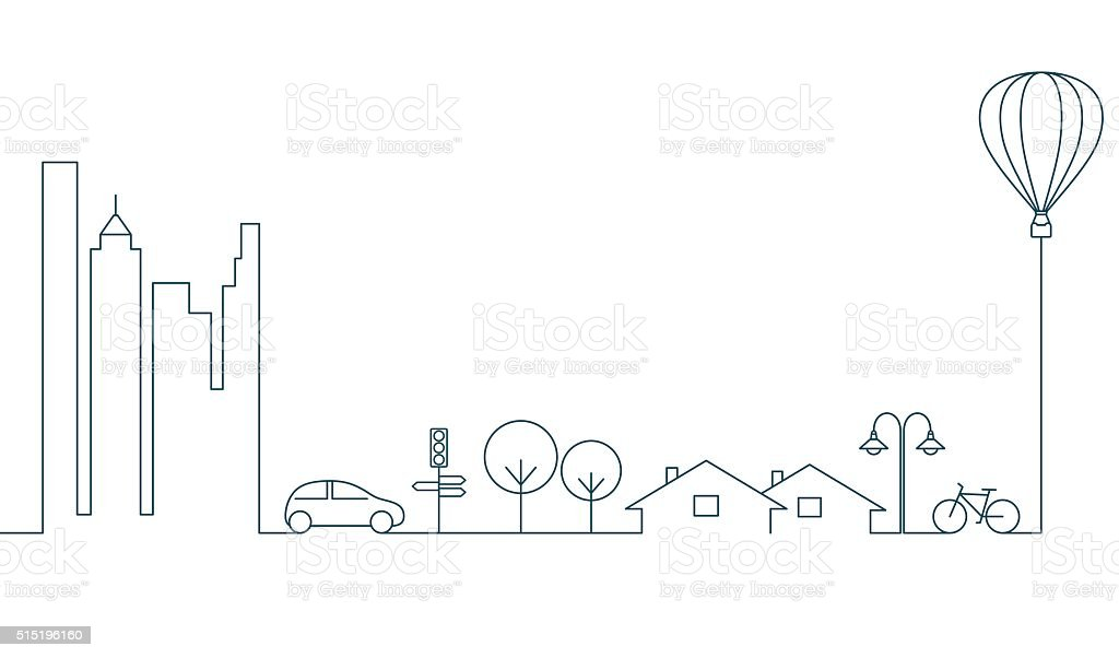 City concept vector art illustration