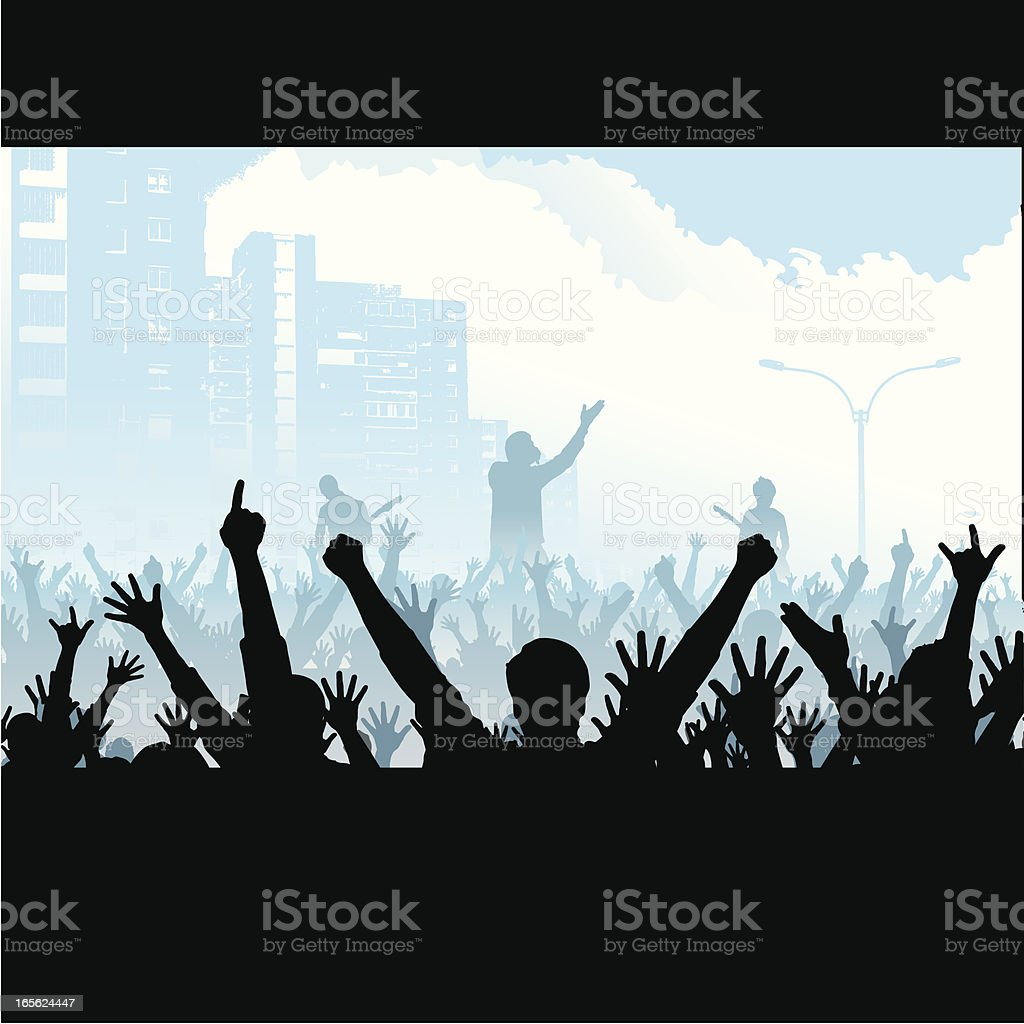 city concert royalty-free stock vector art