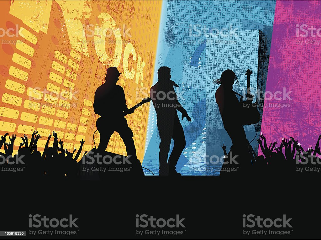 City Concert vector art illustration