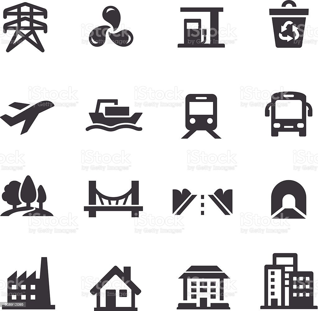 City Construction Icons - Acme Series vector art illustration